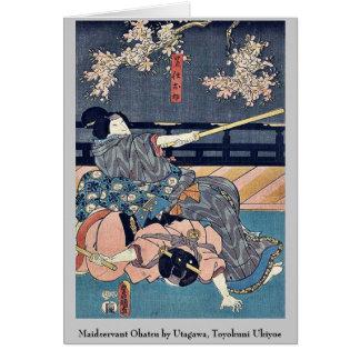 Maidservant Ohatsu por Utagawa, Toyokuni Ukiyoe Tarjeta Pequeña