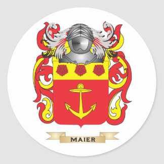 Maier Coat of Arms (Family Crest) Classic Round Sticker