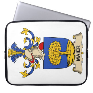 Maier Family Crest Laptop Sleeves