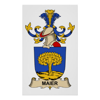 Maier Family Crest Posters