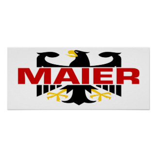 Maier Surname Poster