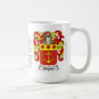 Maier, the Origin, the Meaning and the Crest Coffee Mug