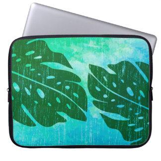 Maikai Hawaiian Monstera Leaf Tie-Dye Wetsuit Computer Sleeve
