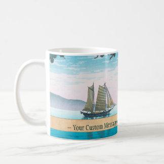 Maiko Beach Tsuchiya Koitsu waterscape shin hanga Classic White Coffee Mug