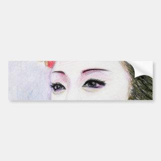 Maiko Girl Bumper Sticker