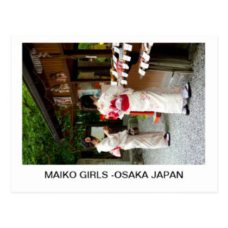 MAIKO GIRLS -OSAKA JAPAN POSTCARDS