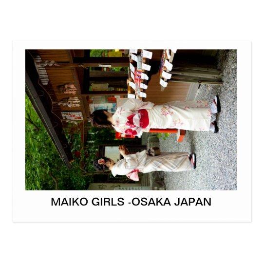 MAIKO GIRLS -OSAKA JAPAN POSTCARD