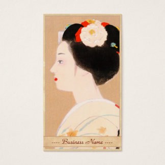 Maiko japanese girl in kimono lady woman geisha business card