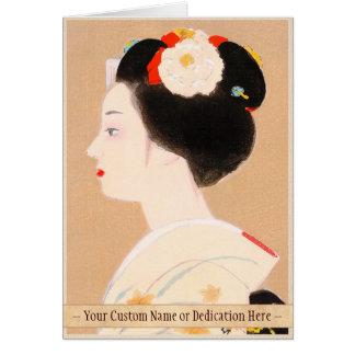 Maiko japanese girl in kimono lady woman geisha cards