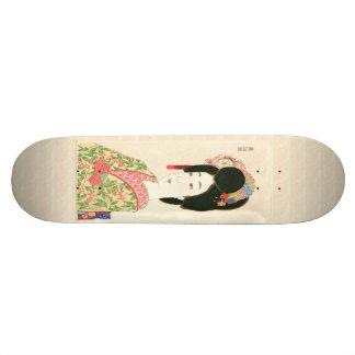 Maiko Japanese Woodblock Print Skateboard