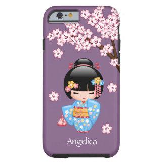 Maiko Kokeshi Doll - Blue Kimono Geisha Girl Tough iPhone 6 Case