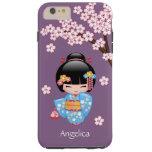 Maiko Kokeshi Doll - Blue Kimono Geisha Girl Tough iPhone 6 Plus Case