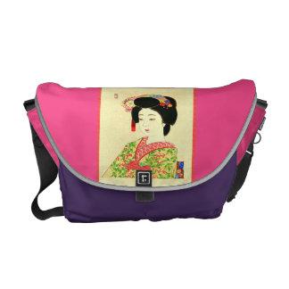 Maiko la bolsa de mensajero japonesa del carrito bolsas de mensajería