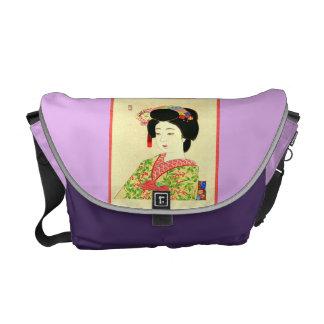 Maiko la bolsa de mensajero japonesa del carrito bolsas de mensajeria