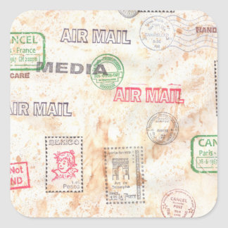 Mail Art Design Square Sticker