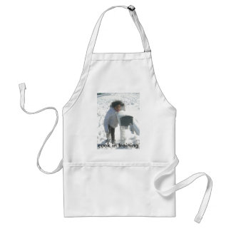 mail box in snow adult apron