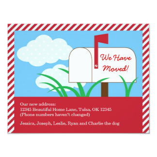 Mail Box We've Moved Card Personalized Invitations