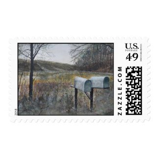 Mail Boxes Postage Stamp