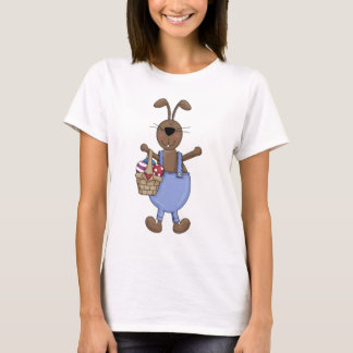 Mail Bunny Holding Easter Basket T-Shirt