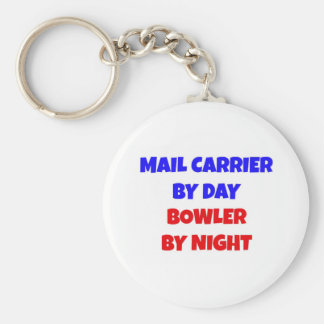 Mail Carrier by Day Bowler by Night Basic Round Button Keychain