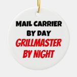Mail Carrier by Day Grillmaster by Night Christmas Ornament