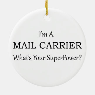 MAIL CARRIER CERAMIC ORNAMENT