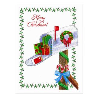Mail Carrier Christmas Postcard