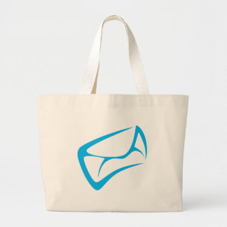 Mail Carrier Logo in Swish Drawing Style Canvas Bags