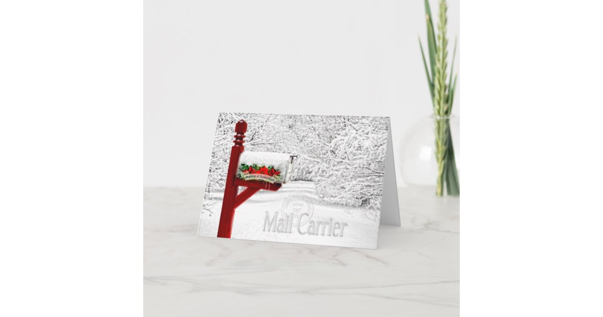 Mail Carrier / Postal Worker Christmas Holiday Card | Zazzle.com