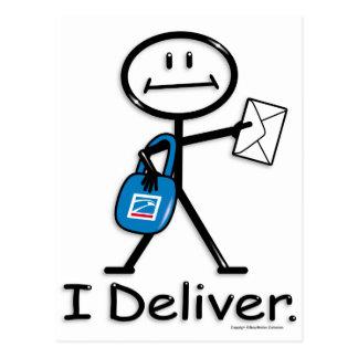 Mail Carrier Postcard
