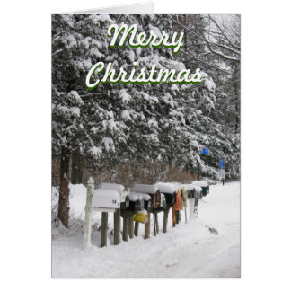 Mail Carrier's Christmas Card