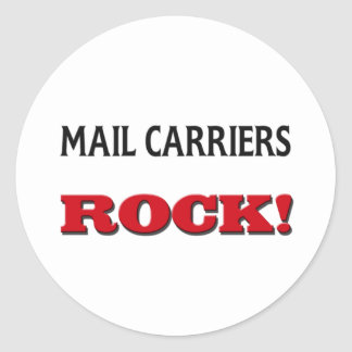 Mail Carriers Rock Classic Round Sticker