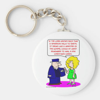 mail christmas cards minister key chains