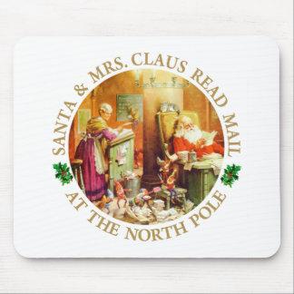 Mail de Santa y de señora Claus Read en el Polo No Alfombrilla De Ratón