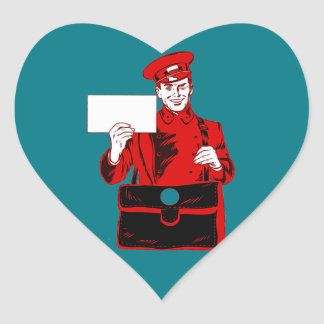 Mail delivery heart sticker