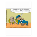 Mail Dog In Therapy Funny Offbeat Cartoon Gifts Postcard