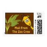 Mail From The Zoo Crew Postage Stamps