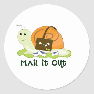 Mail It Out Sticker