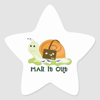 Mail It Out Star Sticker