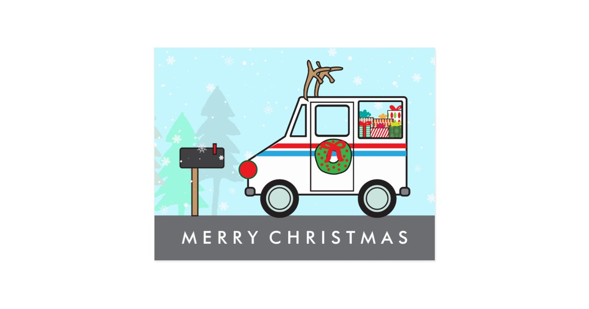 Mail Man Or Lady Christmas Holiday Thank You Postcard Zazzle