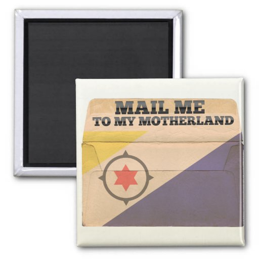 Mail me to Bonaire 2 Inch Square Magnet