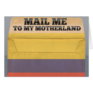 Mail me to Colombia Greeting Card