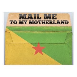 Mail me to French Guiana Postcard