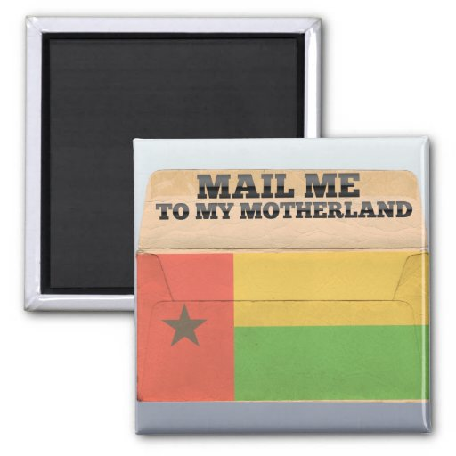 Mail me to Guinea Bissau 2 Inch Square Magnet