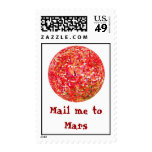 Mail me to Mars Postage Stamp