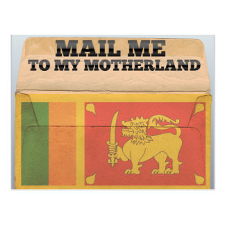 Mail me to Sri Lanka Postcard