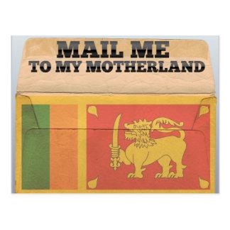 Mail me to Sri Lanka Postcard