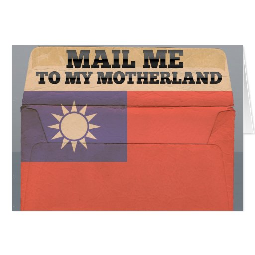 Mail me to Taiwan Stationery Note Card