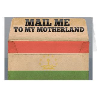 Mail me to Tajikistan Card
