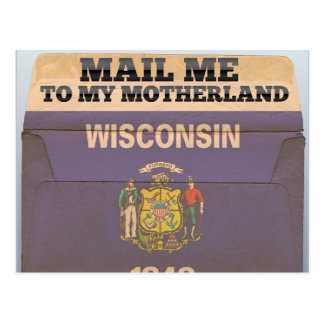Mail me to Wisconsin Postcard